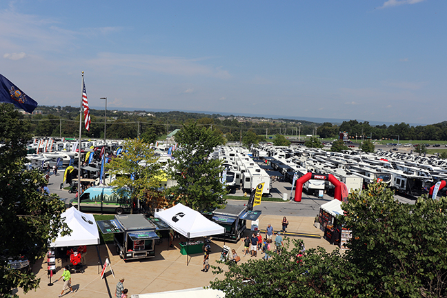 America's Largest RV Show rooftop view